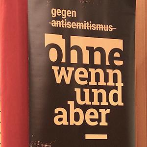 """Plakat """"ohne wenn und aber"""" der Amadeu Antonio Stiftung"""