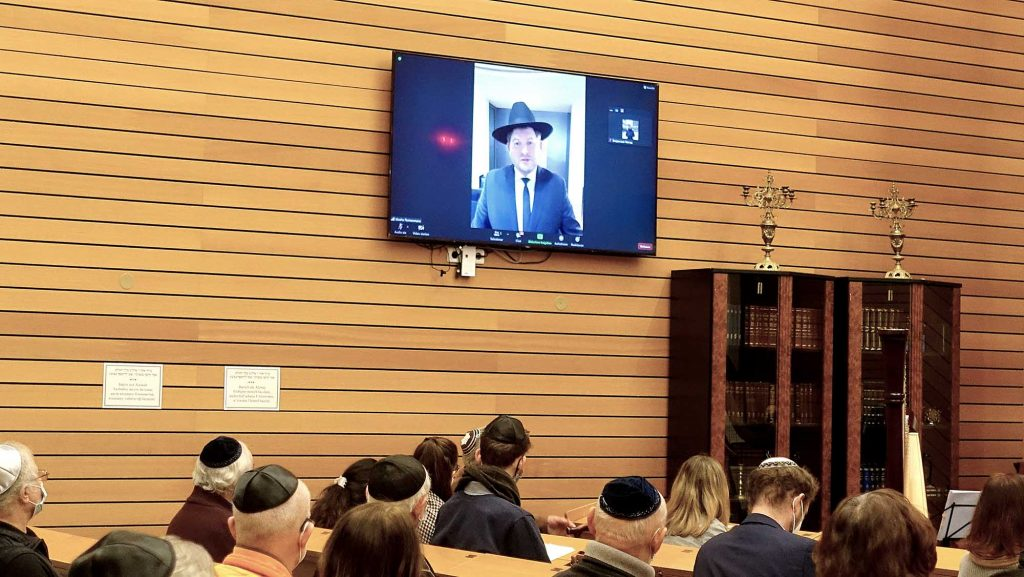 Rabbi ueber Videocall