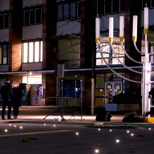 Leuchter auf Marktplatz
